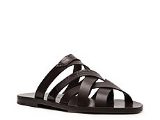 Santoni Leather Flat Sandal