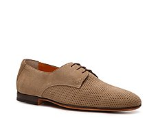 Santoni Perforated Suede Oxford