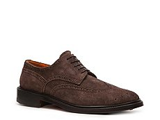 Santoni Distressed Suede Wingtip Oxford