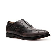 Santoni Distressed Leather Wingtip Oxford