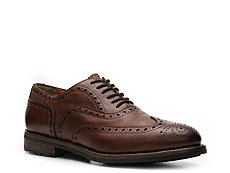 Santoni Textured Leather Wingtip Oxford
