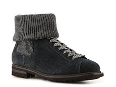 Santoni Suede Roll Top Boot