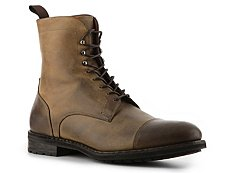 Santoni Distressed Leather Boot