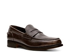 Santoni Leather Penny Loafer