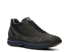 Santoni Leather & Suede Sneaker
