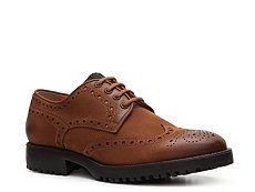 Santoni Distressed Leather Oxford