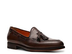 Santoni Leather Tassel Loafer