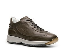 Santoni Distressed Leather Sneaker