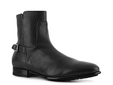 Santoni Textured Leather Buckle Boot