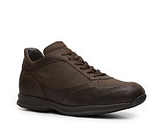 Santoni Leather & Canvas Sneaker
