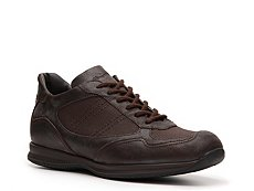 Santoni Canvas & Leather Sneaker