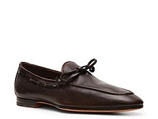 Santoni Leather Tie Loafer