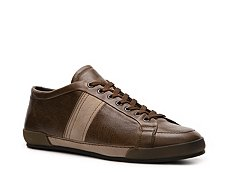 Santoni Leather Two-Tone Sneaker