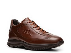 Santoni Leather Logo Sneaker