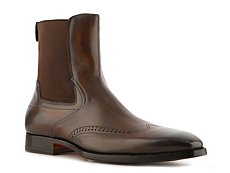 Santoni Leather Wingtip Boot