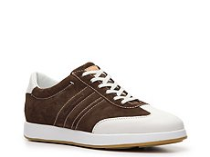 Santoni Suede & Leather Sneaker