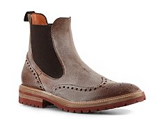 Santoni Distressed Leather Wingtip Boot