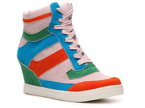 sporty wedge sneakers