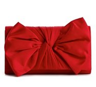 Lulu Townsend Satin Bow Clutch