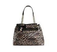 Betsey Johnson Cheetah Punk Sequin Tote