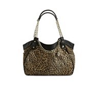 Betsey Johnson Cheetah Mixup Satchel