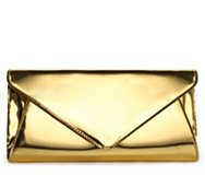 Lulu Townsend Metallic Mirror Envelope Clutch