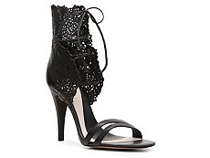 Herve Leger Leather Collar Sandal