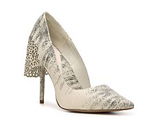 Herve Leger Reptile Leather d'Orsay Pump