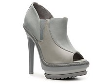 Herve Leger Olechka Leather Platform Bootie