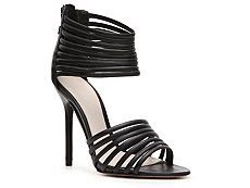 Herve Leger Olesia Leather Strappy Sandal