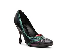 Bottega Veneta Color Block Metallic Leather Pump
