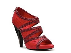 Bottega Veneta Woven Leather Platform Sandal
