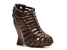 Bottega Veneta Patent Leather Wedge Bootie
