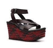 Bottega Veneta Leather Wedge Sandal