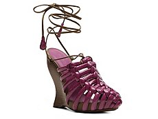 Bottega Veneta Patent Leather Wedge Sandal