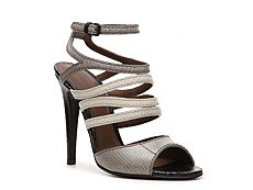 Bottega Venetta Reptile Leather Strappy Sandal