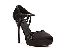 Calvin Klein Collection Dexi Satin Platform Pump