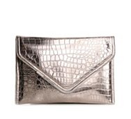 BCBGeneration Metallic Croco Envelope Clutch