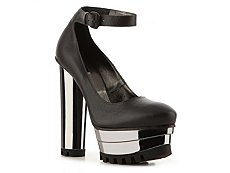 Calvin Klein Collection Ari Leather Platform Pump