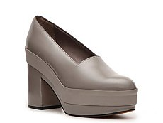 Calvin Klein Collection Maryanne Leather Platform Pump