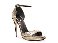Calvin Klein Collection Nash Satin Ankle Strap Sandal