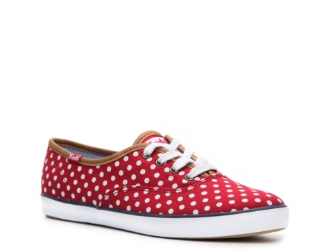 keds champion dot red dot