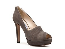 Prada Suede Pleated Pump