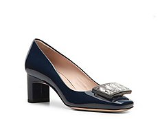 Miu Miu Patent Leather Buckle Pump