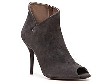 Calvin Klein Collection Kella Suede Peep Toe Bootie