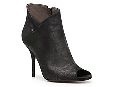 Calvin Klein Collection Kella Metallic Leather Peep Toe Bootie