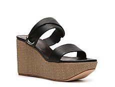 Calvin Klein Collection Petra Leather Wedge Sandal