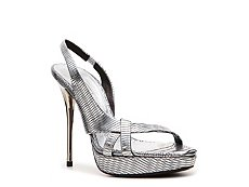 Calvin Klein Collection Kera Metallic Leather Slingback Sandal