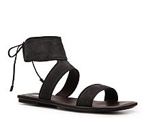 Calvin Klein Collection Luisa Suede Flat Sandal
