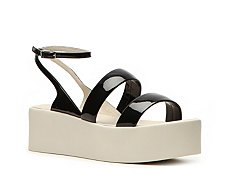 Calvin Klein Collection Kate Patent Leather Platform Sandal